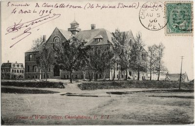 , Prince of Wales College, Charlottetown, P.E.I. (2919), PEI Postcards