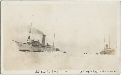 , RPPC of S.S. Earl Grey & S.S. Minto, Feb 25, 1914 (2916), PEI Postcards