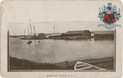 , Scene at Souris, P.E.I. (2920), PEI Postcards