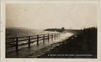 , A Windy Day at the Park, Charlottetown (2978), PEI Postcards