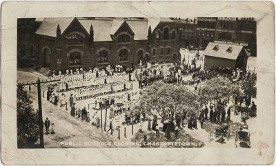 , Public Schools Closing, Charlottetown, P.E.I. (2977), PEI Postcards