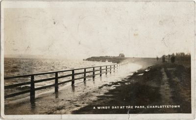 , A Windy Day at the Park, Charlottetown (2972), PEI Postcards