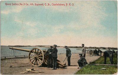 , Heavy Battery No. 3 Co., 4th Regiment, CA, Charlottetown, P.E.I. (2935), PEI Postcards