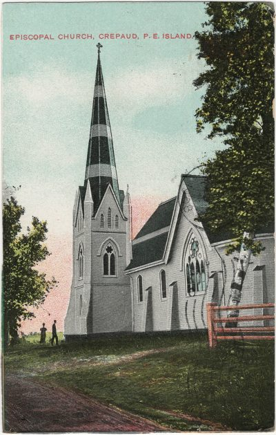 , Episcopal Church, Crepaud, P.E. Island (3034), PEI Postcards