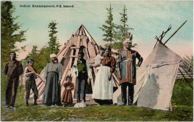 , Indian Encampment, P.E. Island (2985), PEI Postcards
