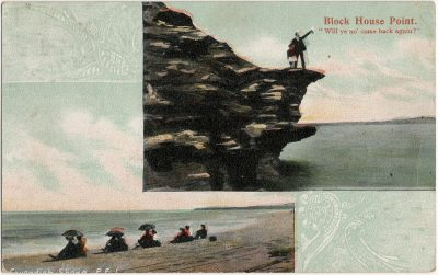 """, Block House Point. """"Will ye no' come back again?"""" (3036), PEI Postcards"""