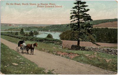 , On the Road, North Shore, to Hunter River, Prince Edward Island. (2983), PEI Postcards