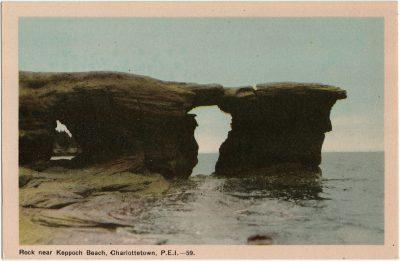, Rock near Keppoch Beach, Charlottetown, P.E.I. (3037), PEI Postcards