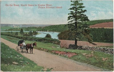 , On the Road, North Shore to Hunter River, Prince Edward Island (3021), PEI Postcards