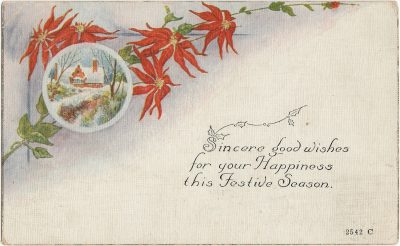 , Sincere good wishes for your Happiness this Festive Season (3017), PEI Postcards