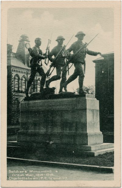 , Soldiers' Monument Great War, 1914-1918 Charlottetown, P.E. Island (3013), PEI Postcards
