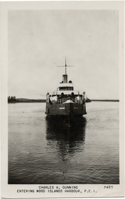 , Charles A. Dunning Entering Wood Islands Harbour, P.E.I. (3010), PEI Postcards