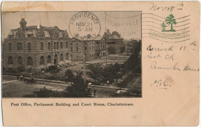 , Post Office, Parliament Building and Court House, Charlottetown (3007), PEI Postcards