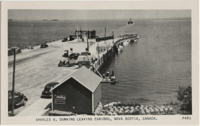 , Charles A. Dunning leaving Caribou, Nova Scotia, Canada. (3005), PEI Postcards