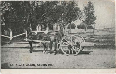 , An Island Wagon, Souris, P.E.I. (3000), PEI Postcards