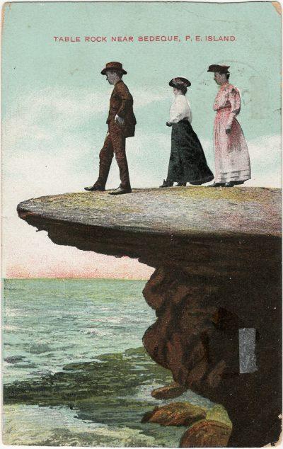 , Table Rock near Bedeque, P.E. Island (3033), PEI Postcards