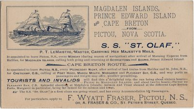 , Shipping Notice (2993), PEI Postcards