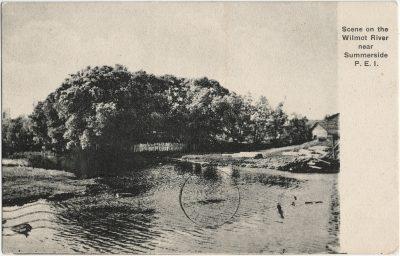 , Scene on the Wilmot River near Summerside, P.E.I. (3047), PEI Postcards