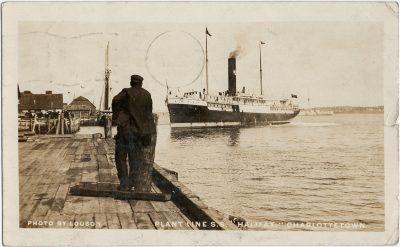 ", Photo by Louson Plant Line S.S. ""Halifax"", Charlottetown. (3085), PEI Postcards"