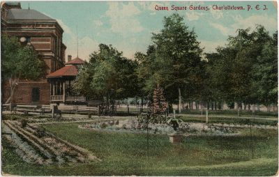 , Queen Square Gardens, Charlottetown, P.E.I. (3082), PEI Postcards