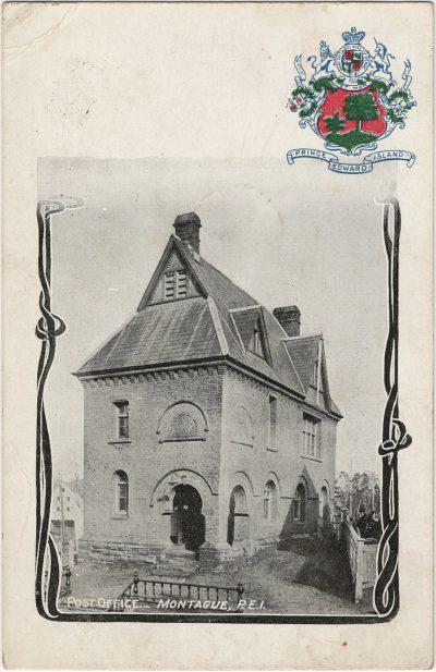 , Post Office, Montague P.E.I. (3084), PEI Postcards