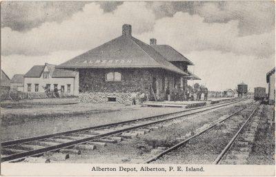 , Alberton Depot, Alberton, P.E. Island (3094), PEI Postcards