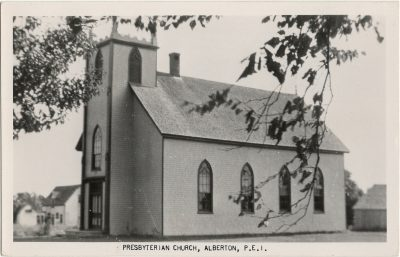 , Presbyterian Church, Alberton, P.E.I. (3073), PEI Postcards