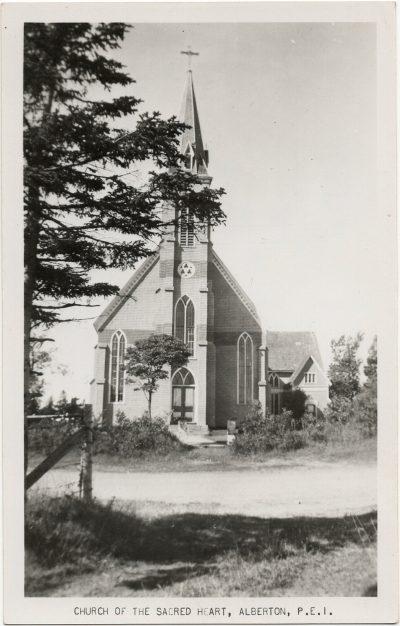 , Church of the Sacred Heart, Alberton, P.E.I. (3074), PEI Postcards