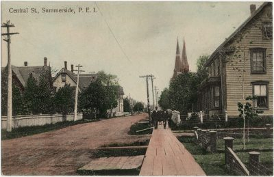 , Central St., Summerside, P.E.I. (3067), PEI Postcards