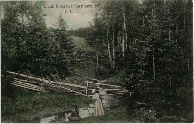 , Dunk River near Summerside, P.E.I. (3068), PEI Postcards