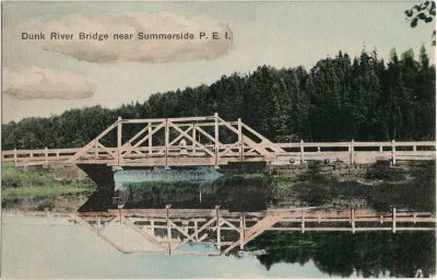 , Dunk River Bridge near Summerside, P.E.I. (3066), PEI Postcards
