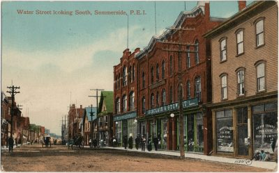 , Water Street looking South, Summerside, P.E.I. (3057), PEI Postcards
