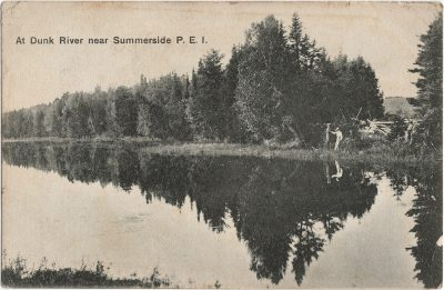 , At Dunk River near Summerside P.E.I. (3091), PEI Postcards