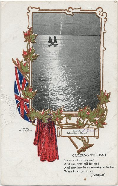 , Eventide, S.Side Prince Edward Island {with poem, Crossing the Bar, by Tennyson} (3049), PEI Postcards