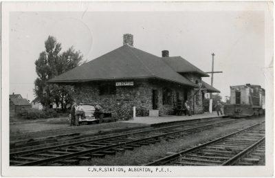 , C.N.R. Station, Alberton, P.E.I. (3102), PEI Postcards