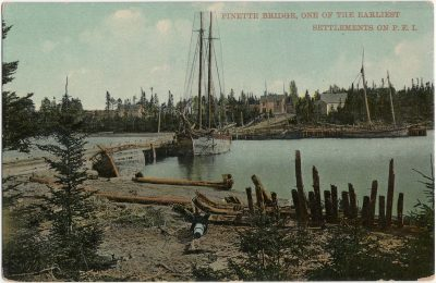 , Pinette Brdige, One of the Earliest Settlements on P.E.I. (3136), PEI Postcards