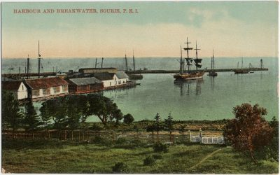 , Harbour and Breakwater, Souris, P.E.I. (3137), PEI Postcards