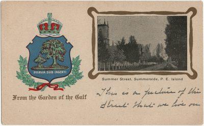 , Summer Street, Summerside, P.E. Island (3128), PEI Postcards