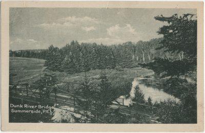 , Dunk River Bridge, Summerside, P.E.I. (3123), PEI Postcards