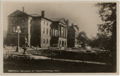 , Provincial Buildings at Charlottetown, P.E.I. (3120), PEI Postcards