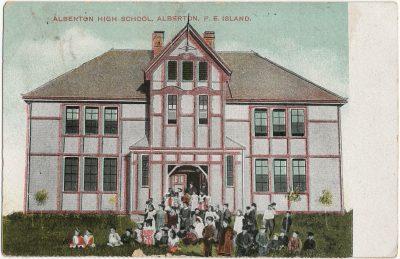 , Alberton High School, Alberton, P.E. Island (3115), PEI Postcards