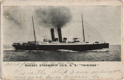", Quebec Steamship Co's. S.S. ""Trinidad"" (3106), PEI Postcards"
