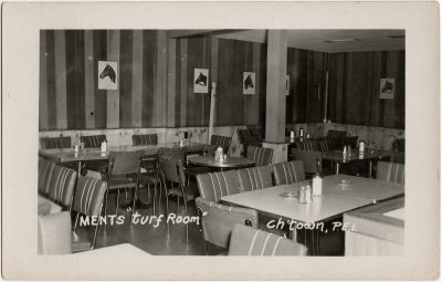 """, Ments """"Turf Room"""" Ch'town, PEI (3170), PEI Postcards"""