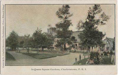 , In Queen Square Gardens, Charlottetown, P.E.I. (3175), PEI Postcards