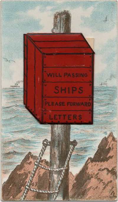 , Plant Line advertisement folded insert, listing Boston-Halifax and Boston-Charlottetown service. (3163), PEI Postcards