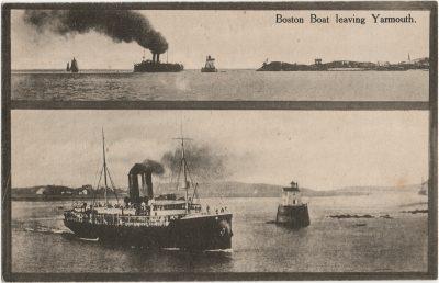 , Boston Boat leaving Yarmouth. (3158), PEI Postcards