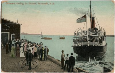 , Steamer leaving for Boston, Yarmouth, N.S. (3160), PEI Postcards