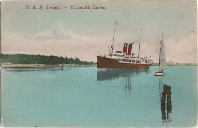 , D.A.R. Steamer – Yarmouth Harbour (3161), PEI Postcards