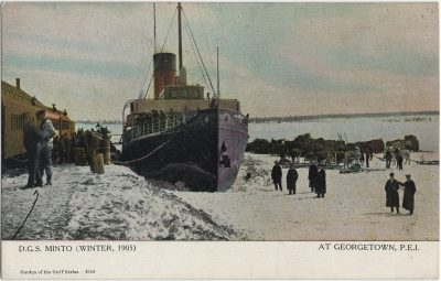 , D.G.S. Minto (Winter, 1905) At Georgetown, P.E.I. (3155), PEI Postcards