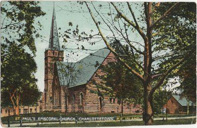 , St. Paul's Episcopal Church, Charlottetown, P.E. Island (3157), PEI Postcards